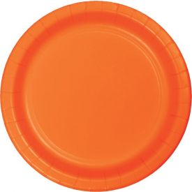 Sunkissed Orange Paper Dinner Plates 9