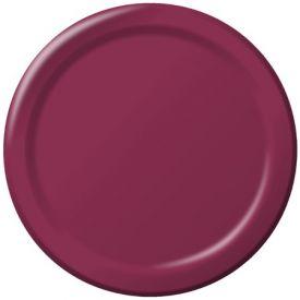 Burgundy Paper Dinner Plates 9