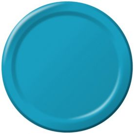 Turquoise Paper Dinner Plates 9