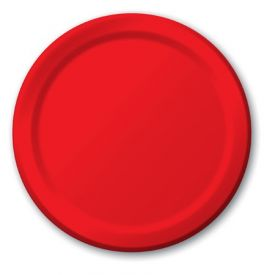 Classic Red Banquet Paper Plates 10.25