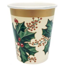 Winter Holly Hot/Cold Cups 9 oz
