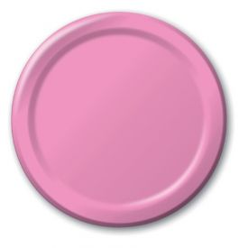 Candy Pink Paper Dinner Plates 9