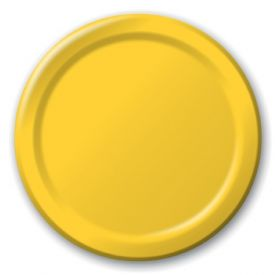 School Bus Yellow Paper Dinner Plates 9