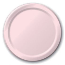 Classic Pink Paper Dinner Plates 9