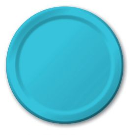 Bermuda Blue Plastic Dinner Plates 9