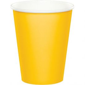 School Bus Yellow Hot/Cold Cups 9 oz