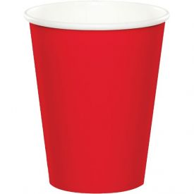 Classic Red Cups, Hot/Cold Paper 9 Oz