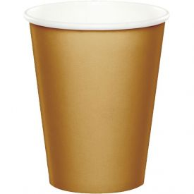 Glittering Gold Hot/Cold Cups 9 oz