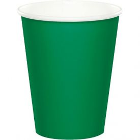 Emerald Green Cups Hot Cold 9 oz Bulk