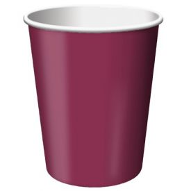 Burgundy Cups, Hot/Cold 9 Oz