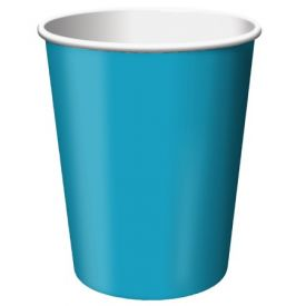 Turquoise Cups, Hot/Cold 9 Oz