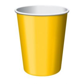 School Bus Yellow Cups, Hot/Cold 9 oz