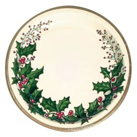 Winter Holly Appetizer or Dessert Paper Plates 7