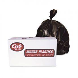 Jaguar Plastics; Industrial Drum Liners, Rolls, 38 x 63, 2.7mil, , Black