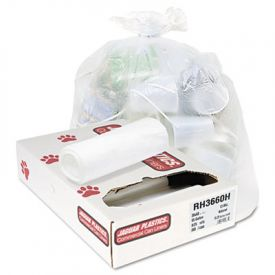 Jaguar Plastics; Coreless Roll Can Liners, 55gal, 13 Microns, 36 x 60