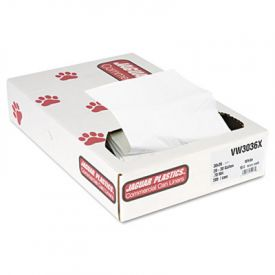 Jaguar Plastics; Low-Density Can Liners, 20-30 Gal, .7mil, White