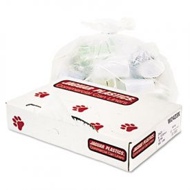 Jaguar Plastics; Low-Density Can Liners, 8-10 Gal, .5mil, White