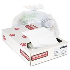 Jaguar Plastics; Low-Density Can Liners, 33 Gal, .9mil, White