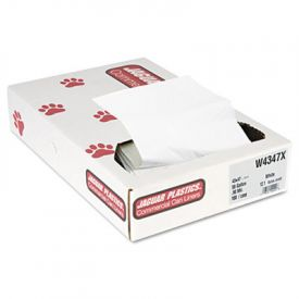 Jaguar Plastics; Low-Density Can Liners, 56 Gal, .9mil, White