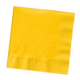 School Bus Yellow Beverage Napkins 3-Ply