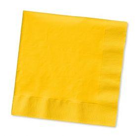 School Bus Yellow Beverage Napkins, 2 Ply