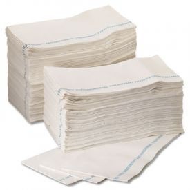 WypAll* X80 Foodservice Towels, 12 x 23 2/5, Blue/White