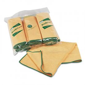 WypAll* Microfiber Cloths with Microban; Protection, 15 3/4 x 15 3/4, Yellow
