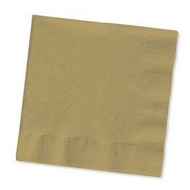Glittering Gold Lunch Napkins, 3-Ply