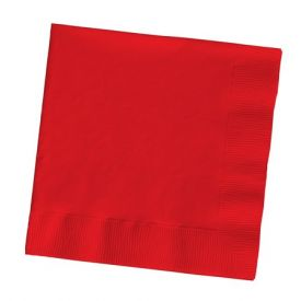 Classic Red Dinner Napkins, 3-Ply, 1/4 Fold