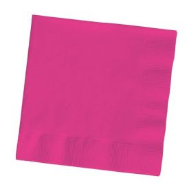 Hot Magenta Dinner Napkins, 3-Ply, 1/4 Fold