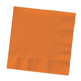Sunkissed Orange Dinner Napkins, 3-Ply, 1/4 Fold