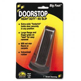 Master Caster® Big Foot® Doorstop, 2-1/4w x 4-3/4d x 1-1/4h, Brown