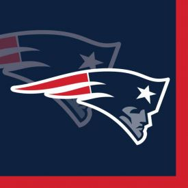 NFL New England Patriots Beverage Napkins 2-Ply