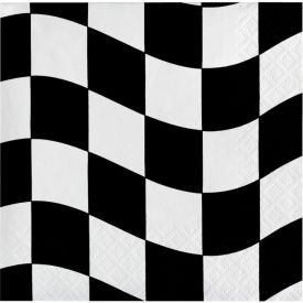 Black & White Check Beverage Napkins, 2-Ply