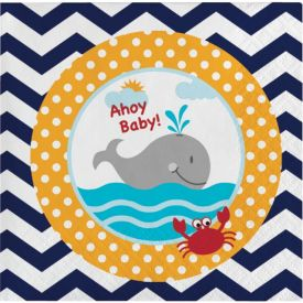 Ahoy Matey! Beverage Napkins 2-Ply Ahoy Baby