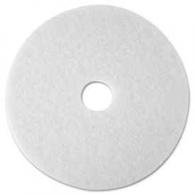 3M White Super Polish Floor Pads 4100, 12