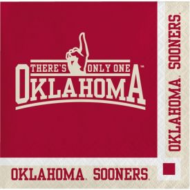 University of Oklahoma Beverage Napkins, 2-Ply