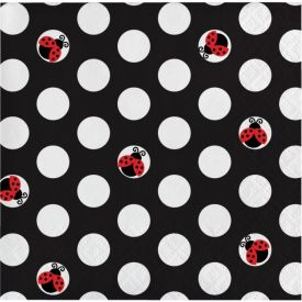 Ladybug Fancy Beverage Napkins, 3-Ply