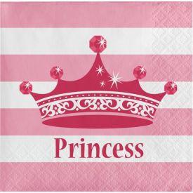 Pink Princess Royalty Beverage Napkins, 2-Ply