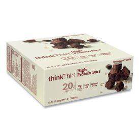 thinkThin High Protein Bars Brownie Crunch 2.1oz.