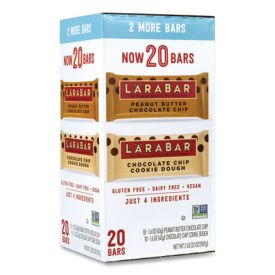 LÄRABAR Peanut Butter Chocolate Chip & Chocolate Chip Cookie Dough Bars 1.6oz