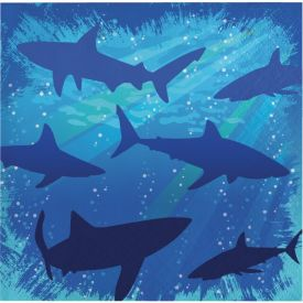 Shark Splash Beverage Napkins 3-Ply