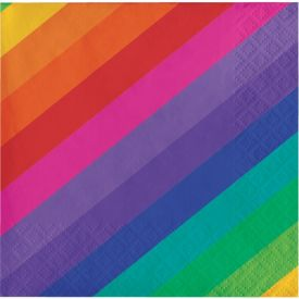 Rainbow Beverage Napkins 3-Ply