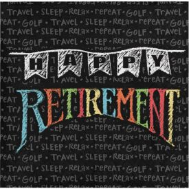 Retirement Chalk Beverage Napkins 3-Ply