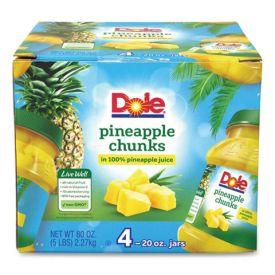 Dole Pineapple Chunks in 100% Juice 20oz.