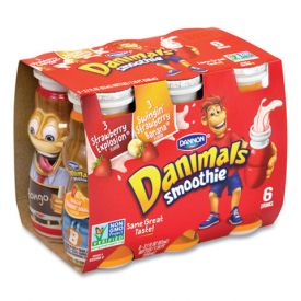 Dannon Danimals Smoothies Strawberry Explosion & Swingin' Strawberry Banana Mix