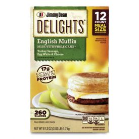 Jimmy Dean Delights Turkey Sausage, Egg White & Cheese English Muffin 5oz.
