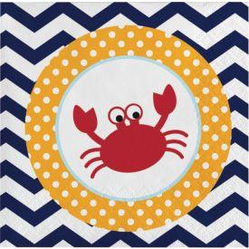 Ahoy Matey! Beverage Napkins 2-Ply Crab