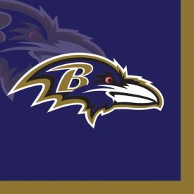 NFL Baltimore Ravens Beverage Napkin 2 ply