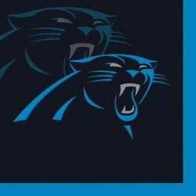NFL Carolina Panthers Beverage Napkin, 2 ply